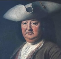 Richard Beau Nash, Master of the Ceremonies in Bath and Tunbridge Wells from 1705